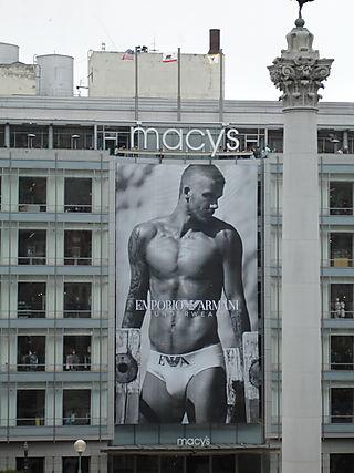 David Beckham Armani Macys SF